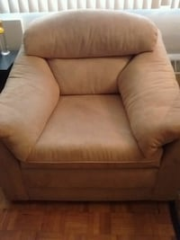brown fabric sofa chair with ottoman Montreal, H4W