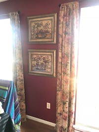 2 Sets of drapes and coordinating pictures Ellicott City, 21043