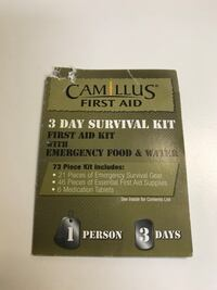 BN 73 pieces / 3 days survival kit BN Surrey, V3V 3H2