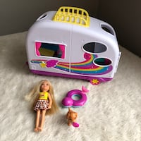 Barbie Little Sister Chelsea Puppy Camper Van Toy Playset Lot