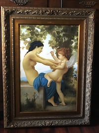 Large 4 FEET Tall! Renaissance Style Painting Woman and Cupid Wellington, 33414