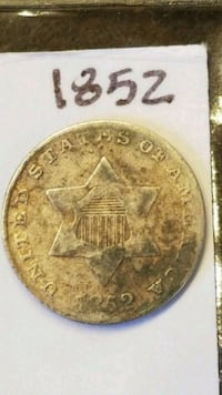 Collectible silver 3 cent coin San Antonio, 78259
