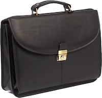 black leather 2-way handbag WINNIPEG