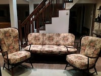 brown and white floral fabric sofa set Côte Saint-Luc, H4W 2G4
