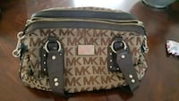 black and brown Michael Kors monogram tote bag Vaughan, L4L 2J1