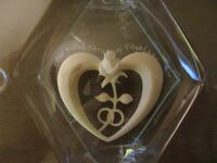Our First Christmas Together Heart Rose Ornament Burlington