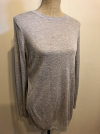 Zara fine knit light grey size small