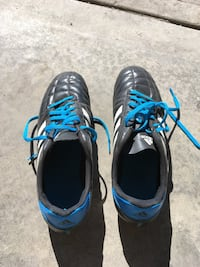 pair of black-and-blue Adidas sneakers Calgary, T3G 4L2