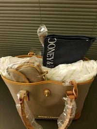 brown and black leather tote bag Bethesda, 20814