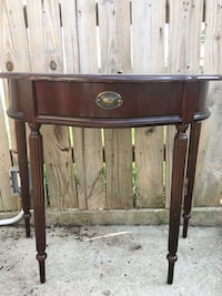 Brown wooden BOMBAY 1 drawer table   Chalmette, 70043