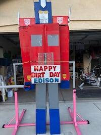 8 foot tall cardboard Optimus prime