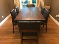 Dining Set (6 leather chairs + table) 34 km