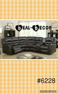Brown Reclining Leather Sectional Atlanta, 30315