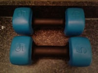pair of blue-and-black 5lbs dumbbells Red Lion, 17356