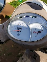 gray and white motorcycle gauge cluster