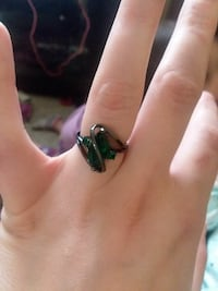 Black and green ring 624 mi