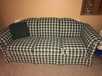 black and white plaid 3-seat sofa Bensville, 20603