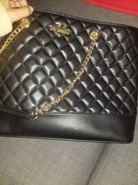 black leather quilted crossbody bag Montréal, H1G 3M2