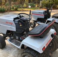 Craftsman GT 600 riding lawn mower. Just selling the one with the deck. Works good just needs the carb put back on it.  Henderson, 27537