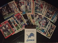 Lot of 50 Detroit Lions Football Cards Mountain City, 37683