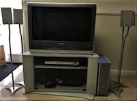 """Toshiba TV 30"""" with built-in DVD and VHS and Panasonic Surround Sound  Potomac"""