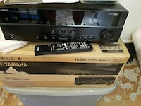 black Yamaha stereo amplifier with remote Jacksonville, 28546