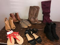 three pairs of leather boots Tarpon Springs, 34689