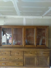 Gun Display cabinet solid oak