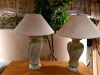 two white ceramic base table lamps Centereach, 11720