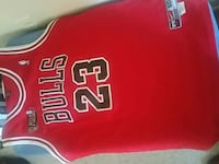 red and white Chicago Bulls 23 jersey New York, 10011