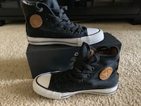 Like New Black/Brown Suede Converse Hi-tops Broadlands, 20148