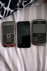 Nokia E71 iPhone 4S and BB Curve 9300
