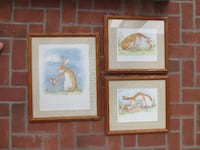 "Set of 3 Custom Framed Large Anita Jeram ""Guess How Much I Love You"" Prints Etters"