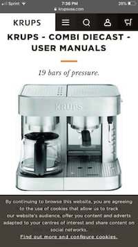 Krups Stainless Steel Combi coffee and Expresso maker ...