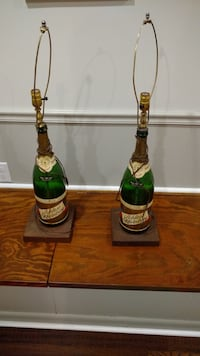 Green decorative bottle table lamps Fairfax Station, 22039