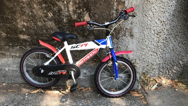 """Kid's black red and white bicycle 14"""""""