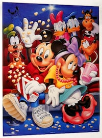 MICKEY MOUSE & FRIENDS POPCORN POSTER, GOOFY, DISNEY