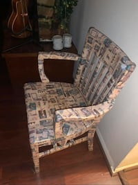 Wooden Chair Newspaper style