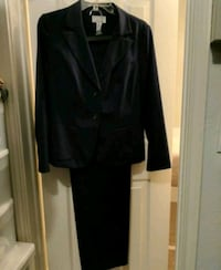 black notch-lapel button-up suit jacket and black dress pants Dallas, 75236