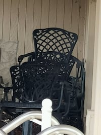 Black metal chairs with lawn lay down chairs Kansas City, 64151