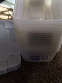 Plastic shoe box's with lids 7 for listed price Gilbert, 85295