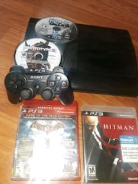 Sony PS3 super slim console with controller and ga