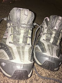 pair of gray-and-black hiking shoes Concord