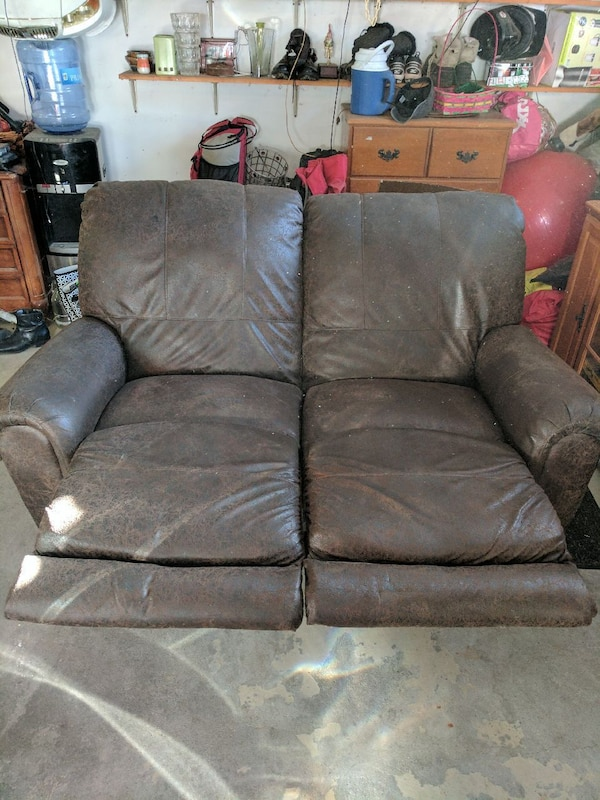 Pleather Sofa With Extendable Footrest Paid 550
