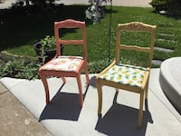 2 ccChoice of olourful chairs refurbished with Fusion Mineral Paint. Great for porch curb appeal, dining room chairs, desk chairs, foyer or adding personality to any room! Delivery. Customized orders. St Catharines, L2P 3L2