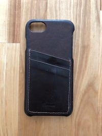 iPhone 7 leather phone case with credit card slots - wallet, brown Mount Juliet, 37122