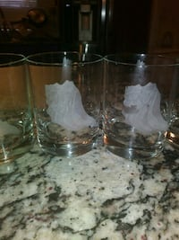 Set of 6 glasses with etched sea shells Port St. Lucie, 34952