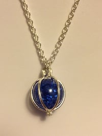 Caged Shattered Globe Pendant Necklaces