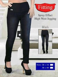 High waist denim jeggings Mumbai