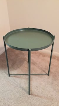round black metal framed glass top table Silver Spring, 20910